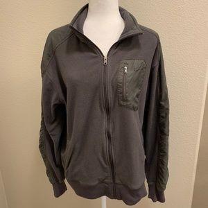 NikeFit Charcoal Gray Fleece Jacket